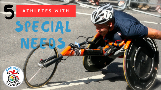 5 athletes with special needs