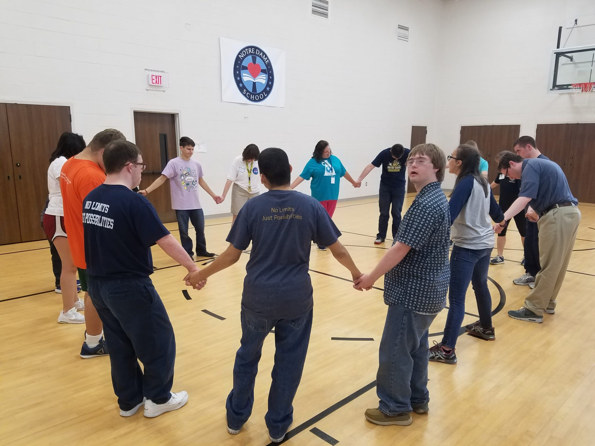 notre-dame-school-prayer-special-needs-down-syndrome-autism-exercise