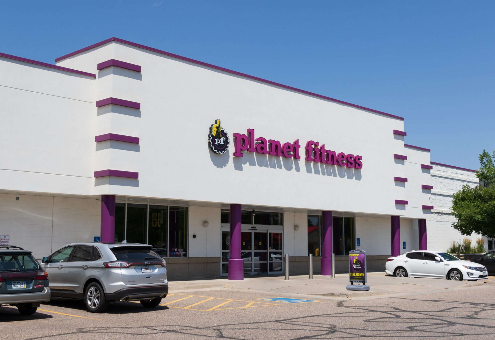 Planet Fitness workout gym in Loveland.